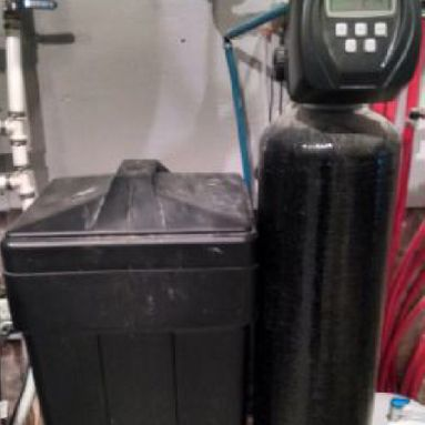 water softener installed