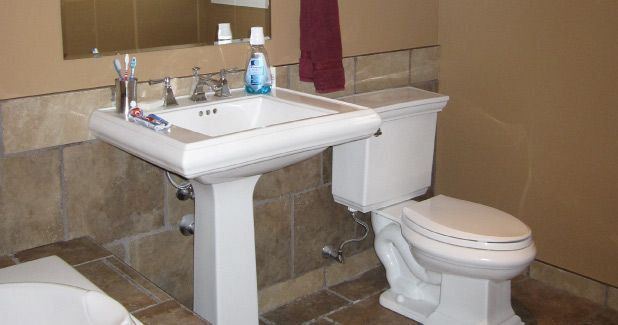 remodeled bathroom installed